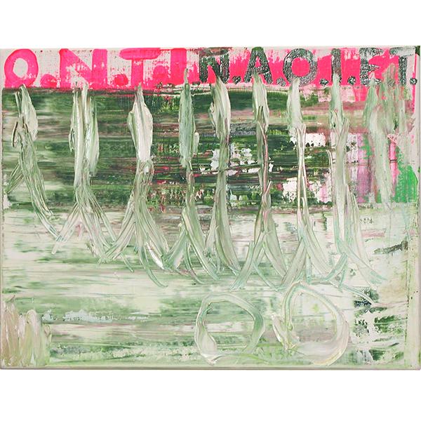 OLAV CHRISTOPHER JENSSEN<br/>Pasternak #1, 2000, acrylic and oil on canvas, 42 x 32 cm