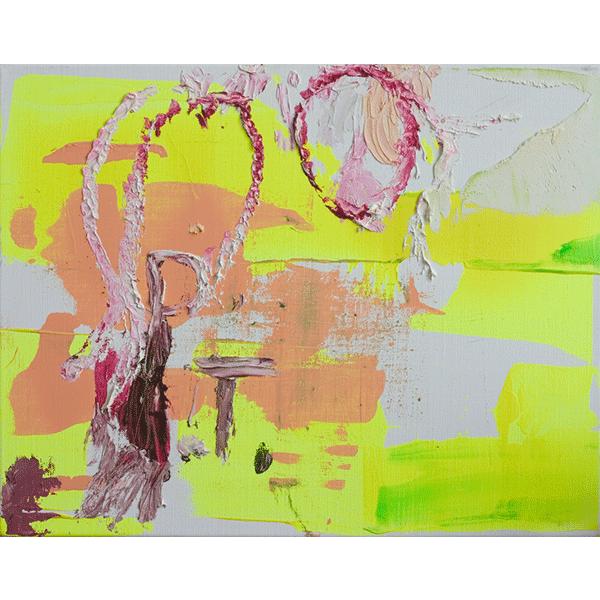 OLAV CHRISTOPHER JENSSEN<br/>Pasternak #6, 2000, acrylic and oil on canvas, 42 x 32 cm