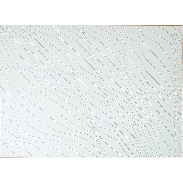 herman de vries<br/>random (lines), 1974, graphite on board, 73 x 102 cm