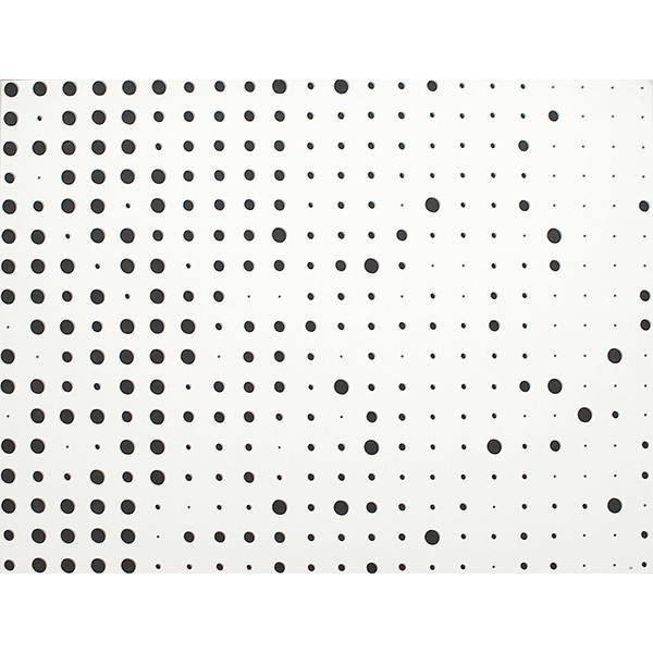herman de vries<br/>random – dots (v70-52), 1970, ink on board, 50 x 65 cm