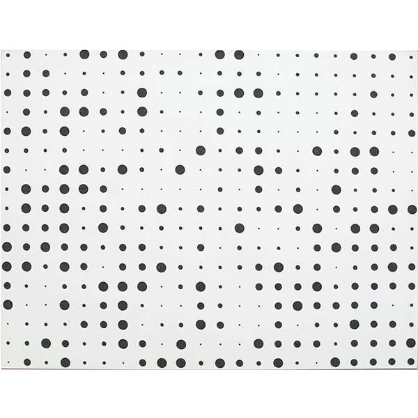 herman de vries<br/>random – dots (v71-03), 1971, ink on board, 50 x 65 cm