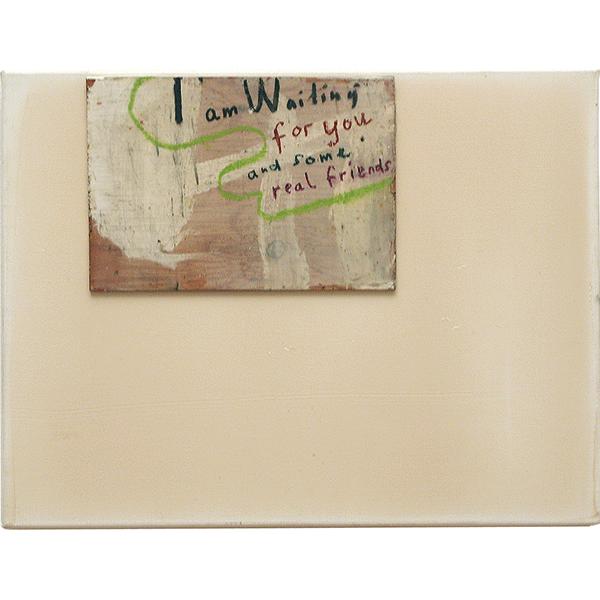 OLAV CHRISTOPHER JENSSEN<br/>Territorium: Message, 2000, acrylic, wax on wood on canvas, 32 x 42 cm