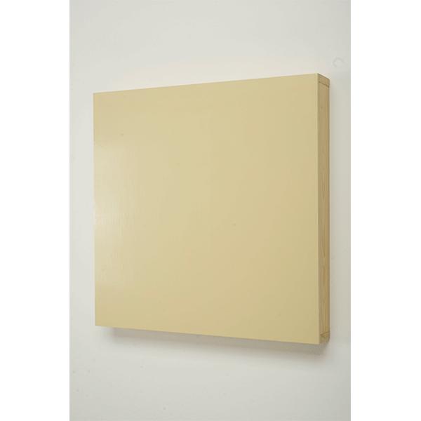 MARCIA HAFIF</br>New York Colors: Ivory, 1993, enamel on Wood, 63 x 63 x 9 cm