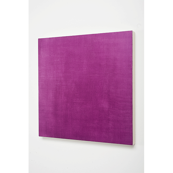 MARCIA HAFIF<br/>Glaze Painting: Cobalt Violet, 1995, oil on canvas, 56 x 56 cm