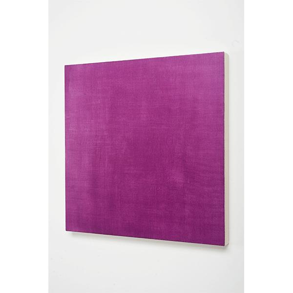 MARCIA HAFIF<br/>Glaze Painting: Cobalt Violet, 1995, oil on canvas, 56 x 56 cm