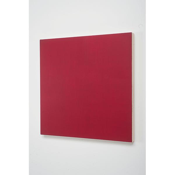MARCIA HAFIF</br>Glaze Painting: Rose Madder Deep, 1995, oil on canvas, 56  x 56 cm