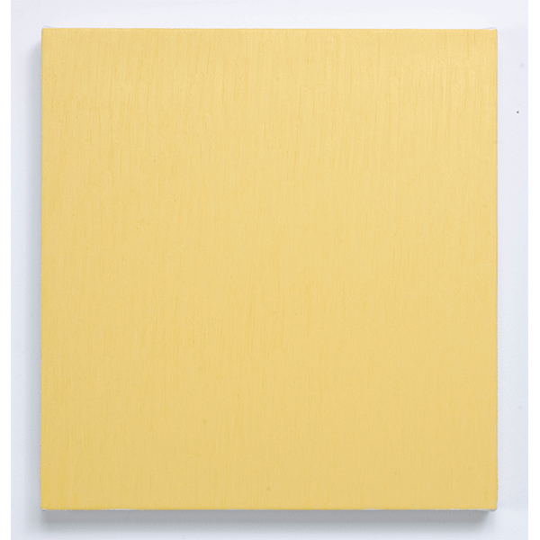 MARCIA HAFIF<br/>Late Roman Painting: Indian Yellow Tint, 1996, oil on canvas, 48 x 46 cm