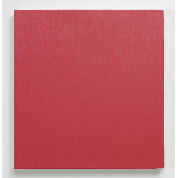 MARCIA HAFIF<br/>Late Roman Painting: permanent Red Dark Tint, 1996, oil on canvas, 46 x 43 cm