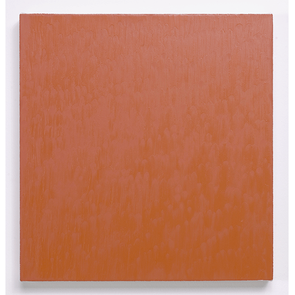 MARCIA HAFIF<br/>Late Roman Painting: Ercolano Tint, 1996, oil on canvas, 51 x 48 cm