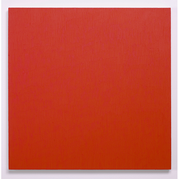 MARCIA HAFIF<br/>Red Painting: Alizarin Crimson Light, March 25, 2000, oil on canvas, 81 x 81 cm