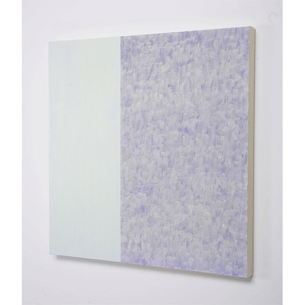 MARCIA HAFIF</br>Fresco Painting: Vine Grey, 2008, oil on canvas, 76,5 x 76,5cm