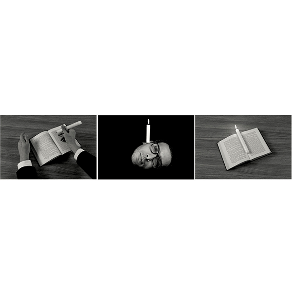 mounir fatmi<br/>Calligraphy of Fire, 2016, pigmentprint on hahnemühle paper, 156 x 35 x 3 cm, ed. 5