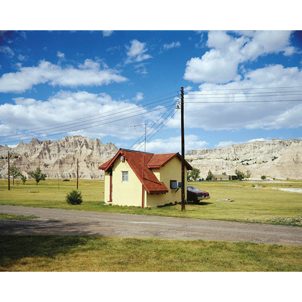 STEPHEN SHORE<br/>Badlands National Monument, South Dakota, 7/14/1973, 2000, c-print, 51 x 61 cm