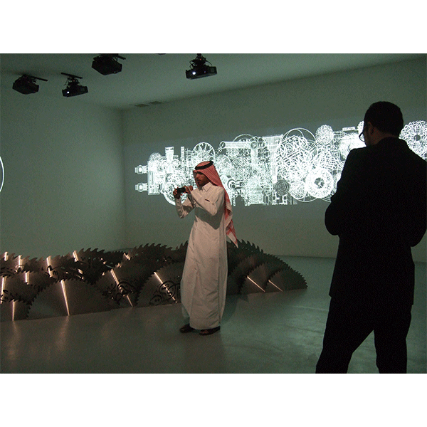 mounir fatmi<br/>Museum Doha, Qatar 2010