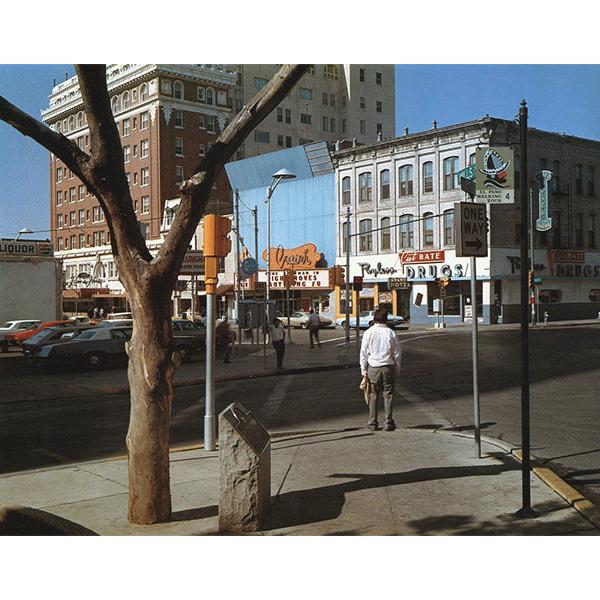 STEPHEN SHORE<br/>El Paso Street, El Paso, Texas, 7/5/1975, 2000, c-print, 51 x 61 cm
