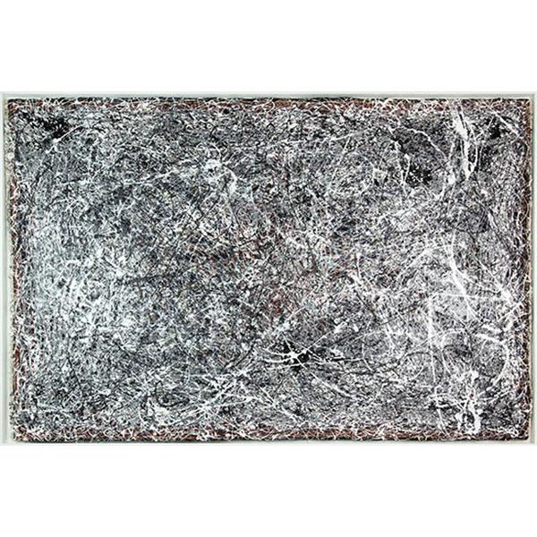 mounir fatmi<br/>Rencontre #3, 2015, dripping on persian carpet, 138 x 210 cm, unique