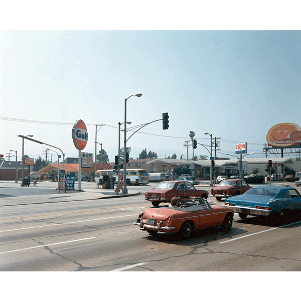 STEPHEN SHORE<br/>Beverly Blvd. and La Brea Ave., 17/6/1974, 2000, c-print 51 x 61 cm, ed. 8