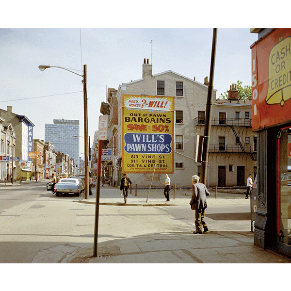 STEPHEN SHORE<br/>West 15th and Vine St., Cincinati, Ohio, 5/15/1974, 2000, c-print, 51 × 61 cm