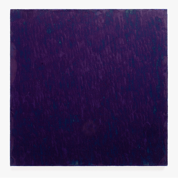 MARCIA HAFIF<br/>Table of Pigments:  Milori Blue, 1991, oil on canvas, 56 x 56 cm