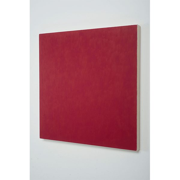 MARCIA HAFIF<br/>Red Painting: Irgazine Ruby, 2000, oil on canvas, 66,5 x 66,5 cm
