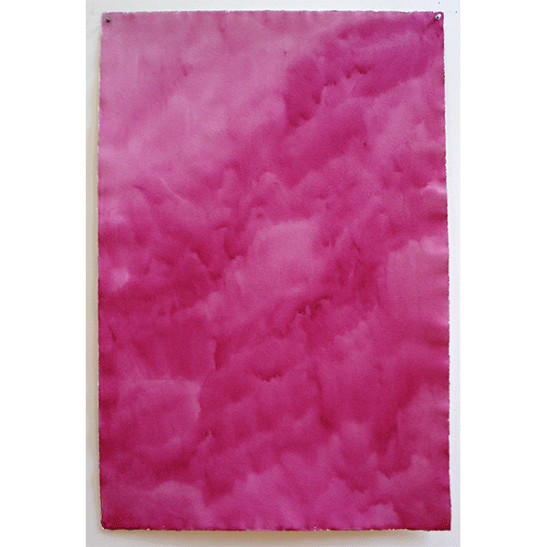 MARCIA HAFIF<br/>Perma Magenta, Aug 24, 1974, watercolor on paper, 41 x 27 cm