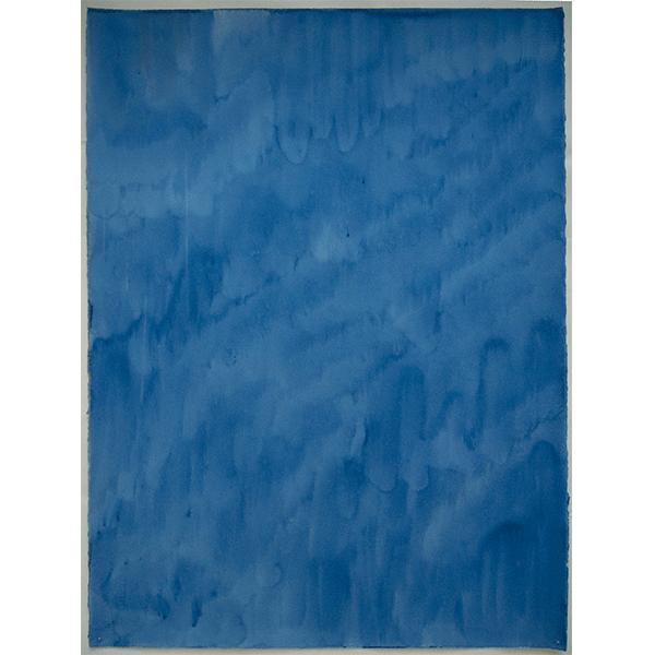 MARCIA HAFIF<br/>Preussisch Blau, July 4, 1990, watercolor on paper, 76 x 57cm
