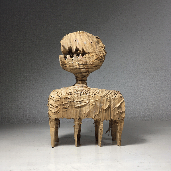 HIROSUKE YABE<br/>Untitled (co105), 2018, wood carving, unique,  22,5 x 14,8 x 8 cm