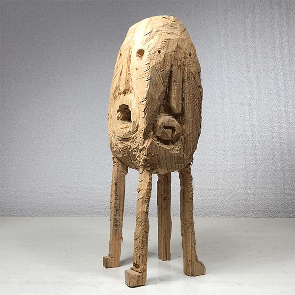 HIROSUKE YABE<br/>Untitled (co0143), 2018, wood carving, 40,4 x 12,7 x 12,5 cm