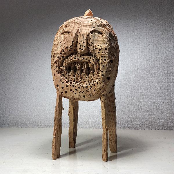 HIROSUKE YABE<br/>Untitled (co0160), 2018, wood carving, 36 x 16,5 x 14 cm