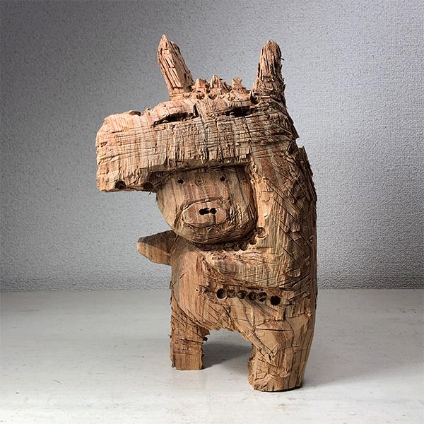 HIROSUKE YABE<br/>Leviathan (co0163), 2018, wood carving, 33,5 x 20,5 x 13