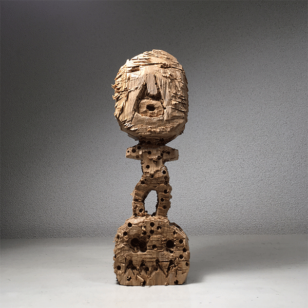 HIROSUKE YABE<br/>Untitled (co022), 2018, wood carving, unique, 30 x 10 x 7,5 cm