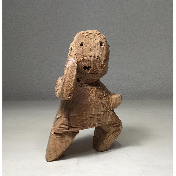 HIROSUKE YABE<br/>Untitled (co066), 2018, wood carving, 14,7 x 10,3 x 7,5 cm