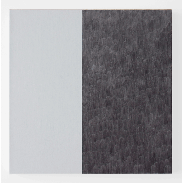 MARCIA HAFIF<br/>Fresco Painting: Paynes Grey, 2007, oil on canvas, 51 x 51 cm
