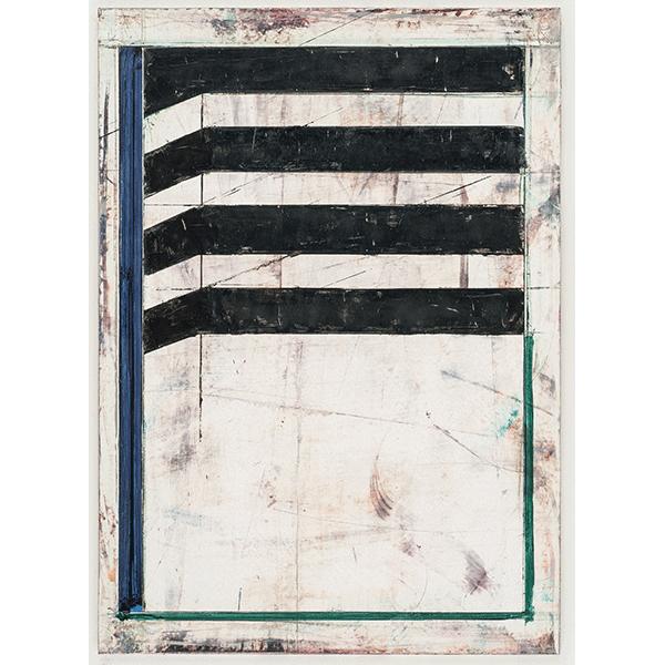 PIUS FOX</br>PF 18-043 Kasten, 2018, oil on paper on aluminium, 30 x 22 cm