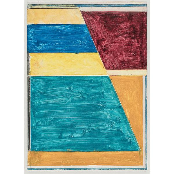 PIUS FOX</br>PF 18-044 Landschaft, 2018, oil on paper on aluminium, 24 x 17 cm