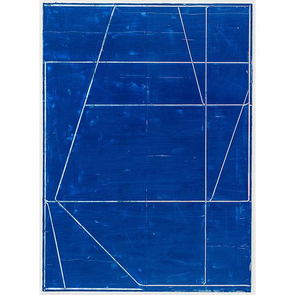 PIUS FOX</br>PF 18-048 Fadenblatt, 2018, oil on paper on aluminium, 40 x 32 cm