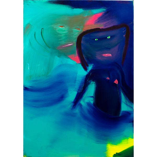 ANETA KAJZER<br/>Ocean Girl, 2020, oil on canvas, 100 x 70 cm