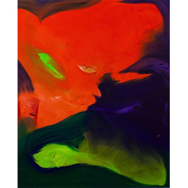 ANETA KAJZER<br/>Trickster, 2021, oil on canvas, 160 x 130 cm