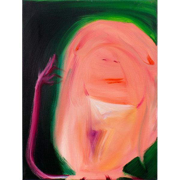 ANETA KAJZER<br/>Pan, 2020, oil on canvas, 60 x 45 cm