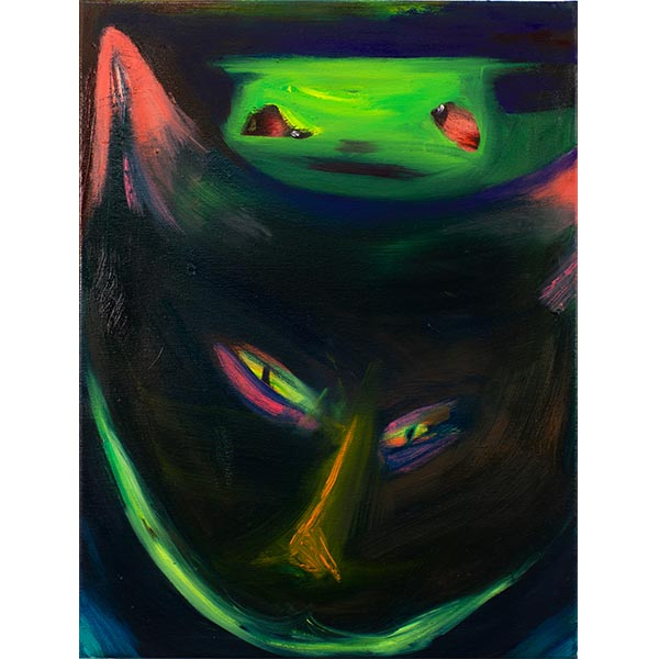 ANETA KAJZER<br/>Fox Friend, 2020, oil on canvas, 60 x 45 cm