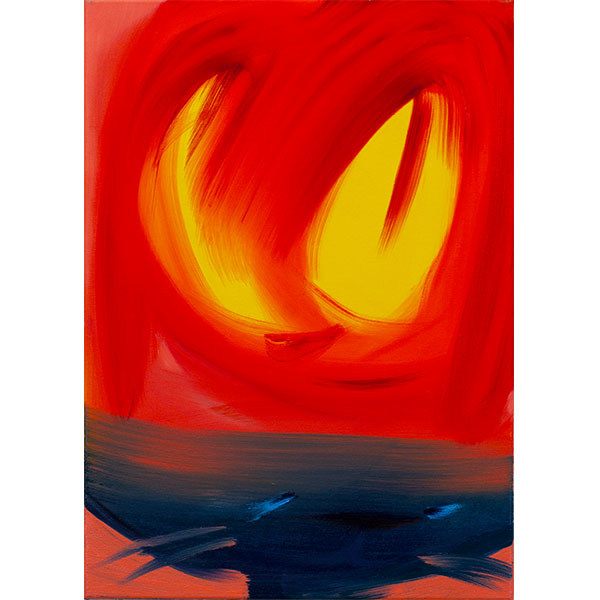 ANETA KAJZER<br/>CatDog, 2021, oil on canvas, 70 x 50 cm