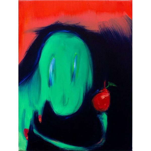 ANETA KAJZER<br/>An Apple A Day, 2020, oil on canvas, 60 x 45 cm