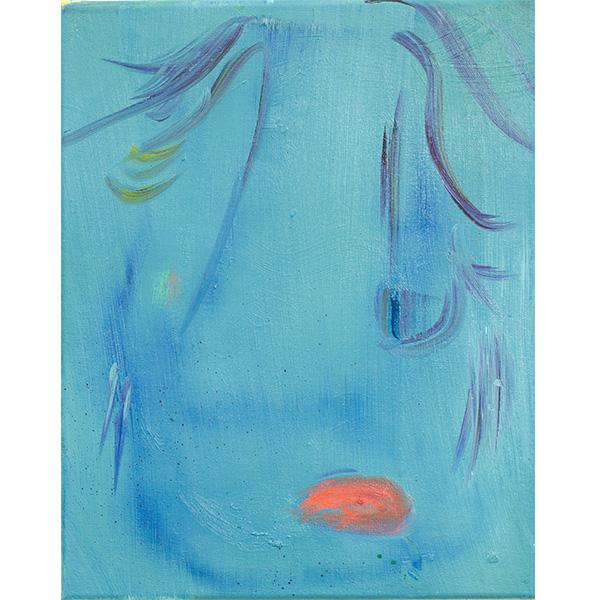 ANETA KAJZER<br/>Angespritzt, 2020, oil on canvas, 40 x 32 cm