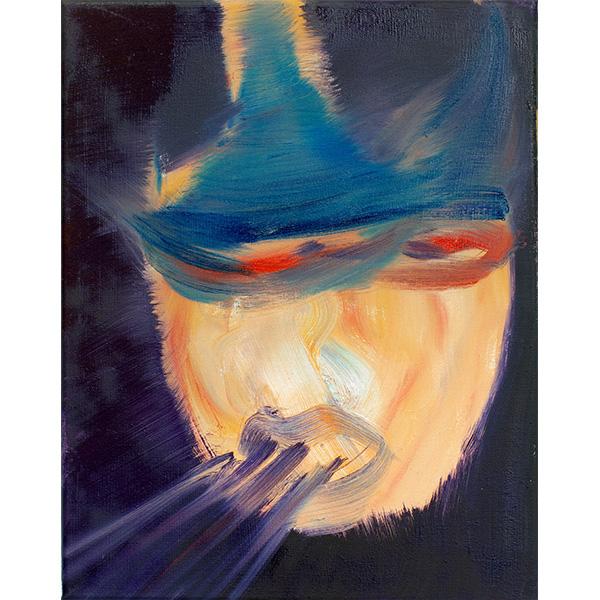 ANETA KAJZER<br/>Attacke!, 2020, oil on canvas, 40 x 32 cm
