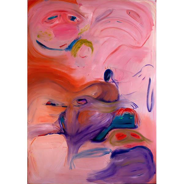 ANETA KAJZER<br/>Aufbruch, 2020, oil on canvas, 280 x 200 cm