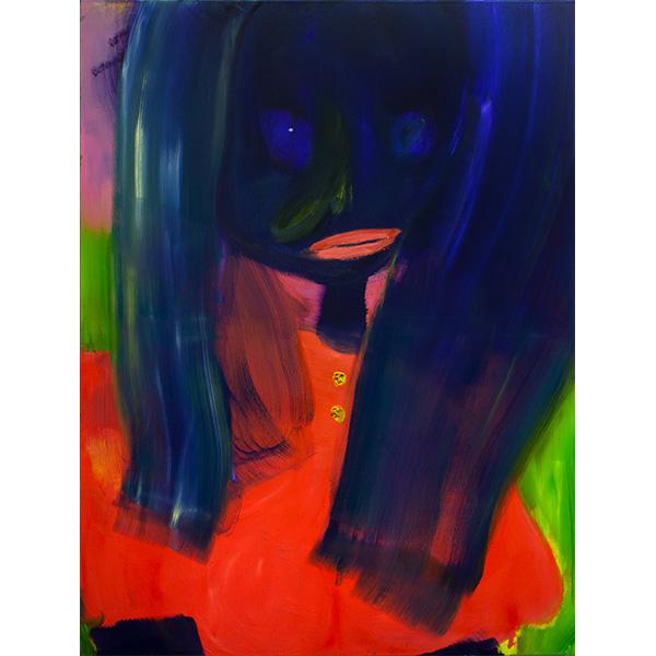 ANETA KAJZER<br/>Ballkönigin, 2020, oil on canvas, 160 x 120 cm