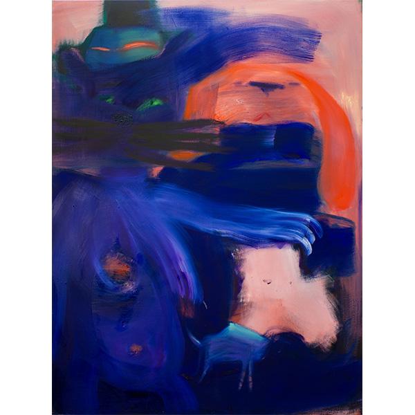 ANETA KAJZER<br/>Der Magier, 2020, oil on canvas, 160 x 120 cm