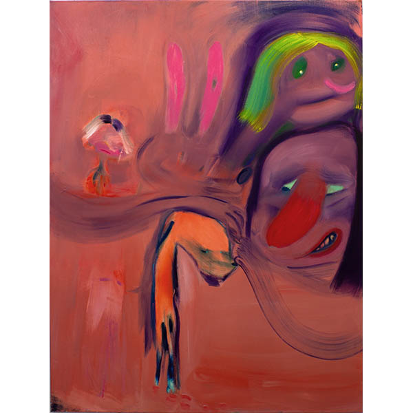 ANETA KAJZER<br/>Don't Touch Me, 2020, oil on canvas, 185 x 140 cm