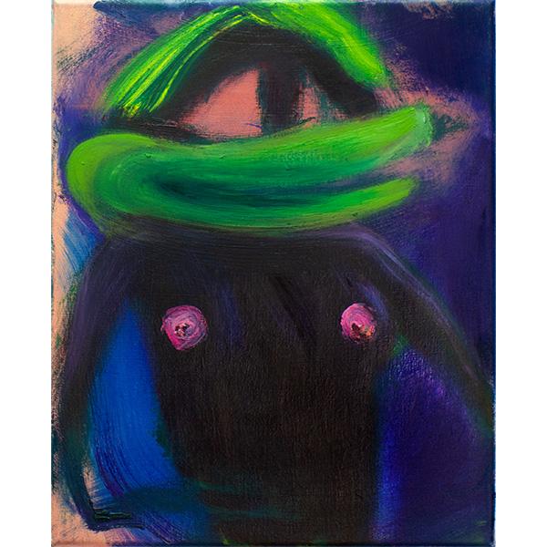 ANETA KAJZER<br/>Duck Lady, 2020, oil on canvas, 40 x 32 cm