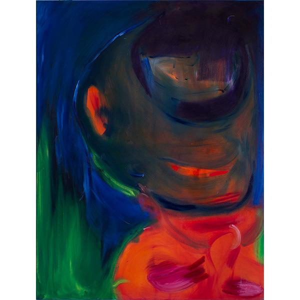 ANETA KAJZER<br/>Howling, 2020, oil on canvas, 160 x 120 cm